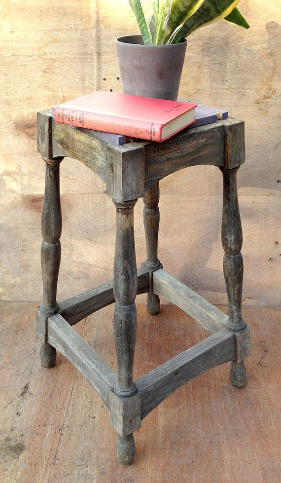 Stool Bedside Table: 114 Curated Roses Upcycled Furniture Store