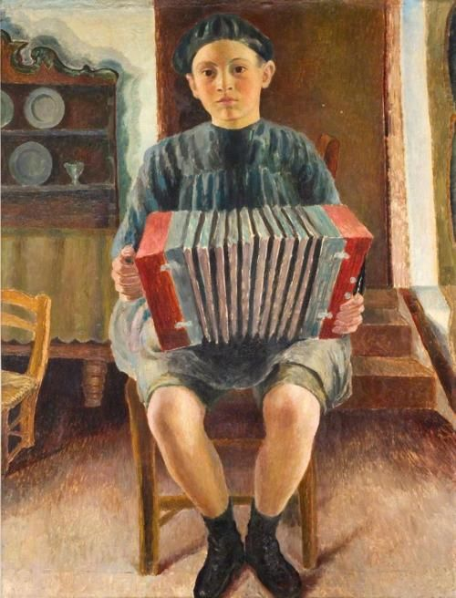 Dora Carrington - Spanish Boy, the Accordion Player (c.1924)