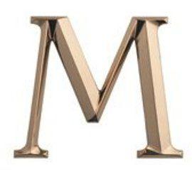 Cast metal letter uit gegoten brons