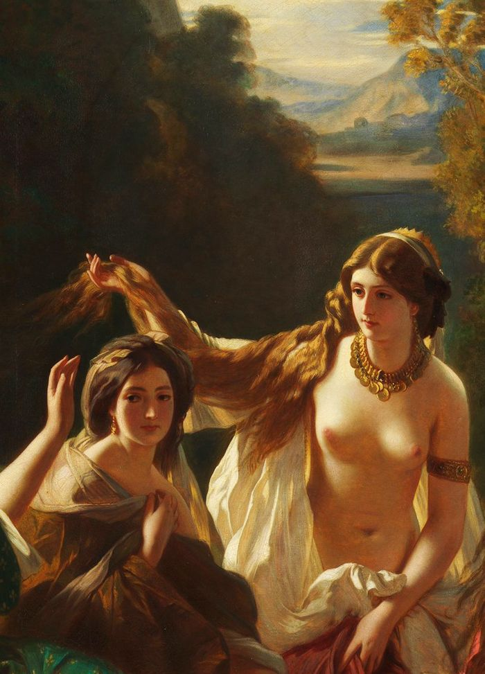 portrait-of-westeros:  Franz Xaver Winterhalter  Florinda (detail) 1853  Nymeria and Tyene Sand