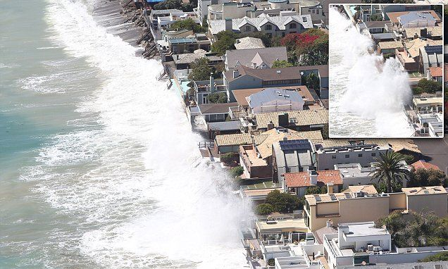 Celebrities  powerless as their Malibu homes are hit by waves