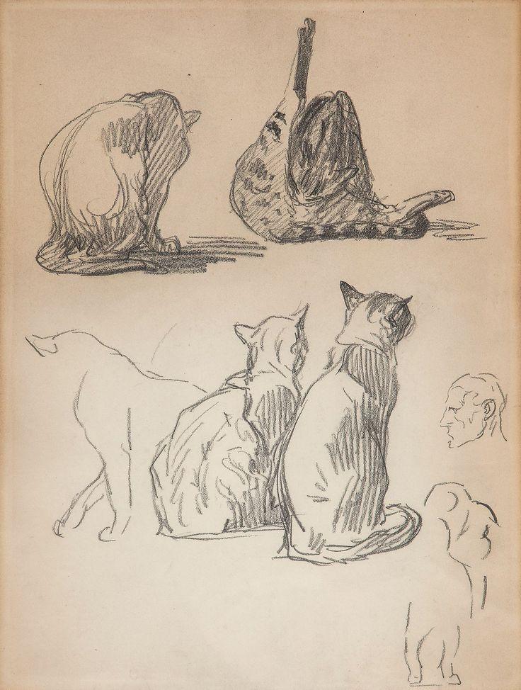 Cat Sketches1, Theophile Steinlen