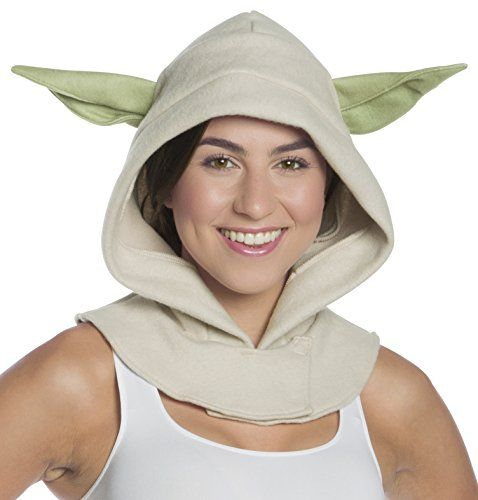 Yoda costume hood with ears One size, designed to fit teens and adults OFFICIALLY LICENSED Star Wars costume accessory, items shipped and sold by Amazon are guaranteed authentic