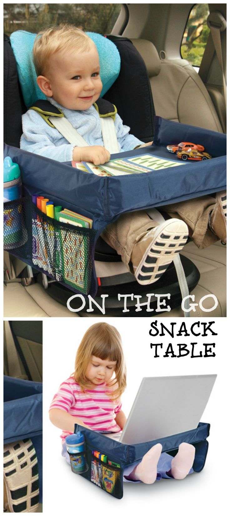 On the Go Snack Table - I can't tell you how many times I wish I had one of these in my car for the kids!