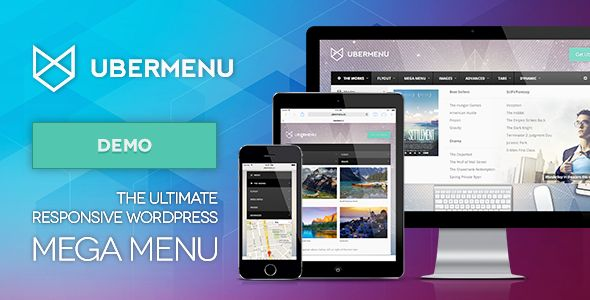 UberMenu - WordPress Mega Menu Plugin   http://codecanyon.net/item/ubermenu-wordpress-mega-menu-plugin/154703?ref=damiamio            	                     The Ultimate WordPress Menu 	 UberMenu is a user-friendly, highly customizable, responsive Mega Menu WordPress plugin. It works out of the box with the WordPress 3 Menu System, making it simple to get started but powerful enough to create highly customized and creative mega menu configurations.        Fully Responsive    Mega or Flyout…
