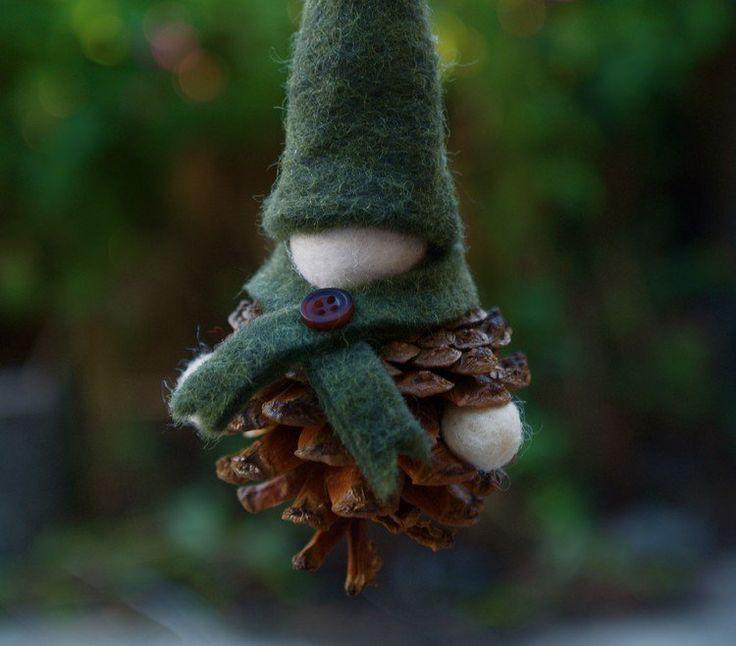 bricolage enfants bonhomme en pomme de pin