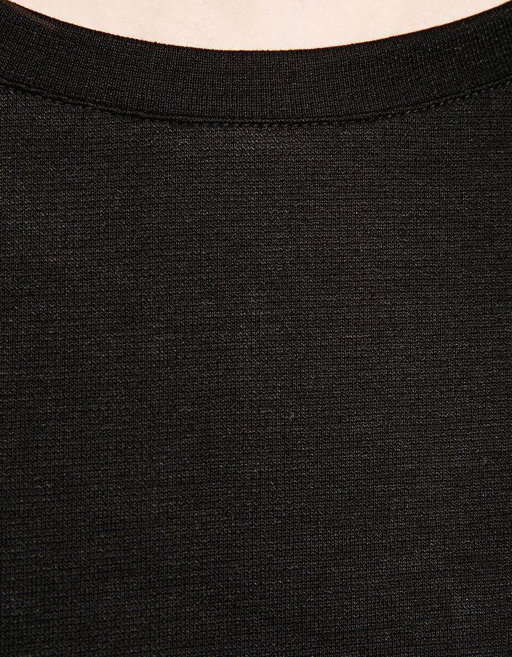 Strakke jurk met lange mouw punti di roma - Jurken - Bershka Netherlands