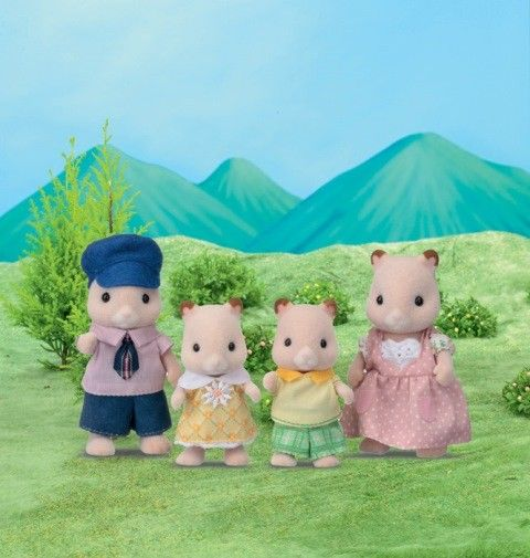 Sylvanian Families - Hamster Family #pintowin #entropywishlist I would love this little hamster fam for my SF school bus 🚌