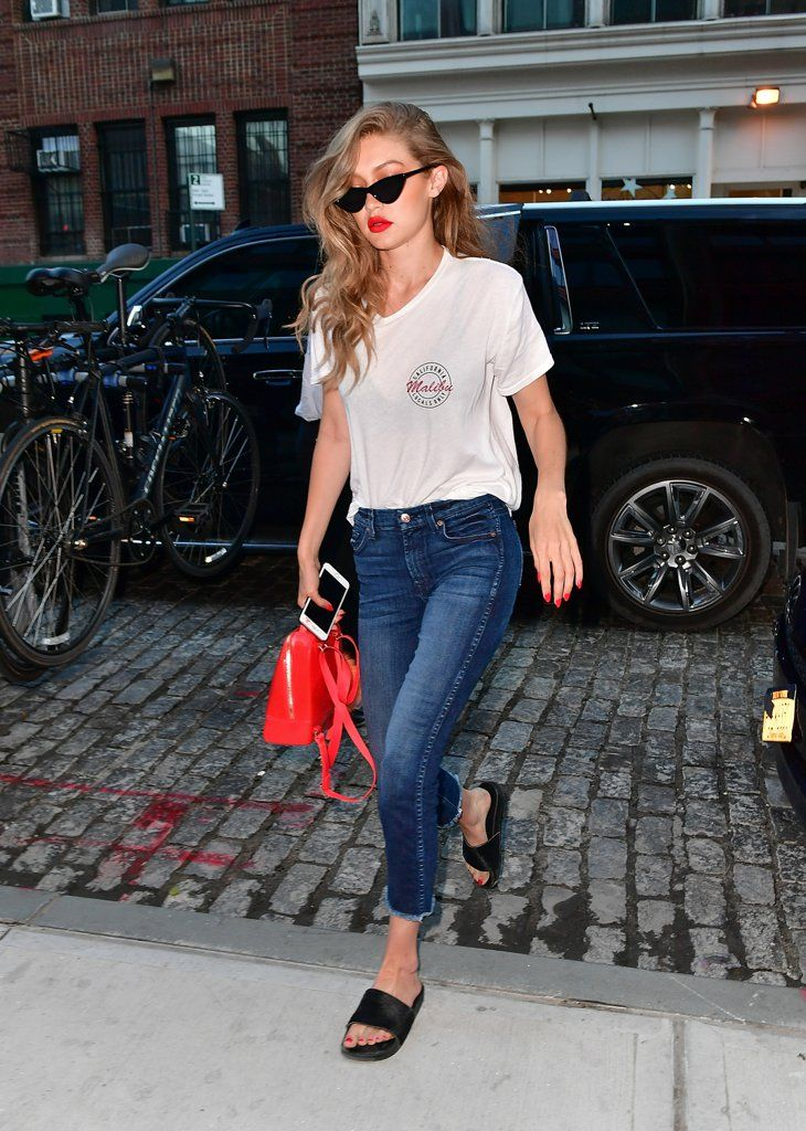 Gigi Hadid's Been Swapping Out Her Sneakers For This Easy Summer Sandal