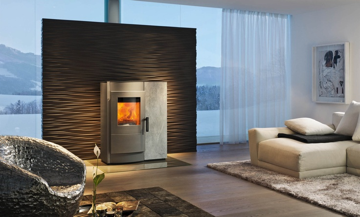 A glimpse of the future today - The Rika Induo combined log and pellet burner.