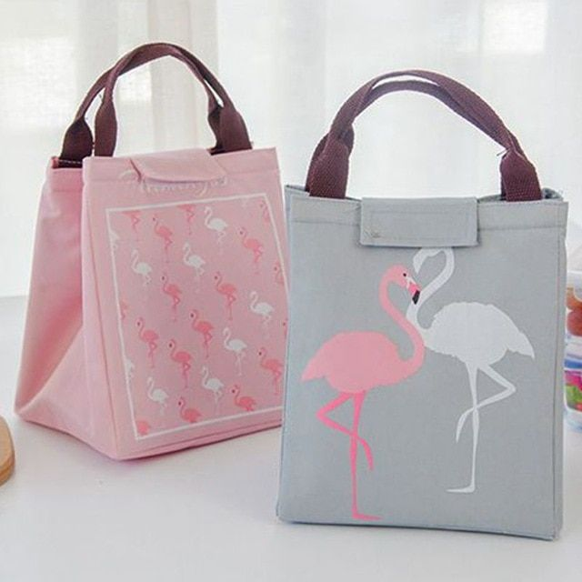 Cartoon Printed Lunch Bag Portabble Insulated Thermal Cool Bags Picnic Food Box