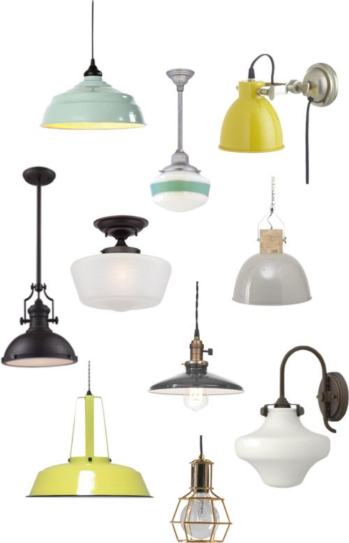 Top 10 Industrial and School House pendants via The Blissful Bee