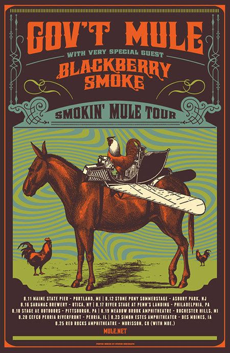 Blackberry Smoke Teams with Gov't Mule for the Smokin' Mule 2016 Summer Tour – Rose Music Center On 8/20