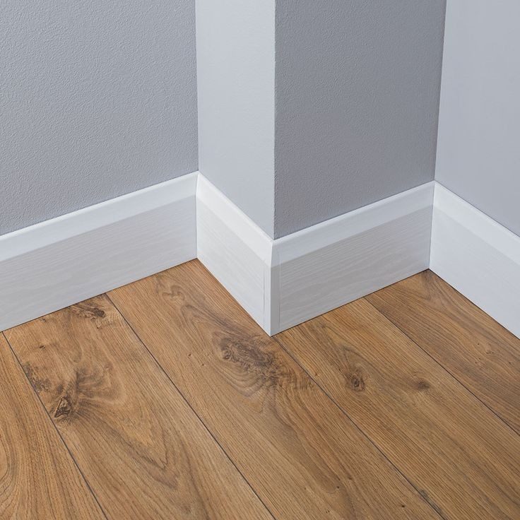 Chamfered baseboards