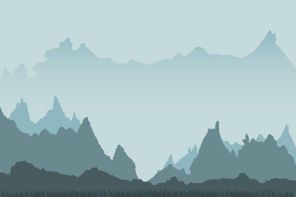 Minimalist vector landscape background design