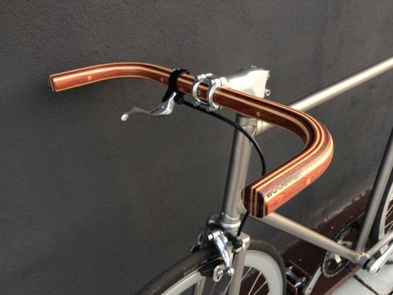 bubinga  wenge and ash wood bullhorn bicycle by wOOdwishh on Etsy
