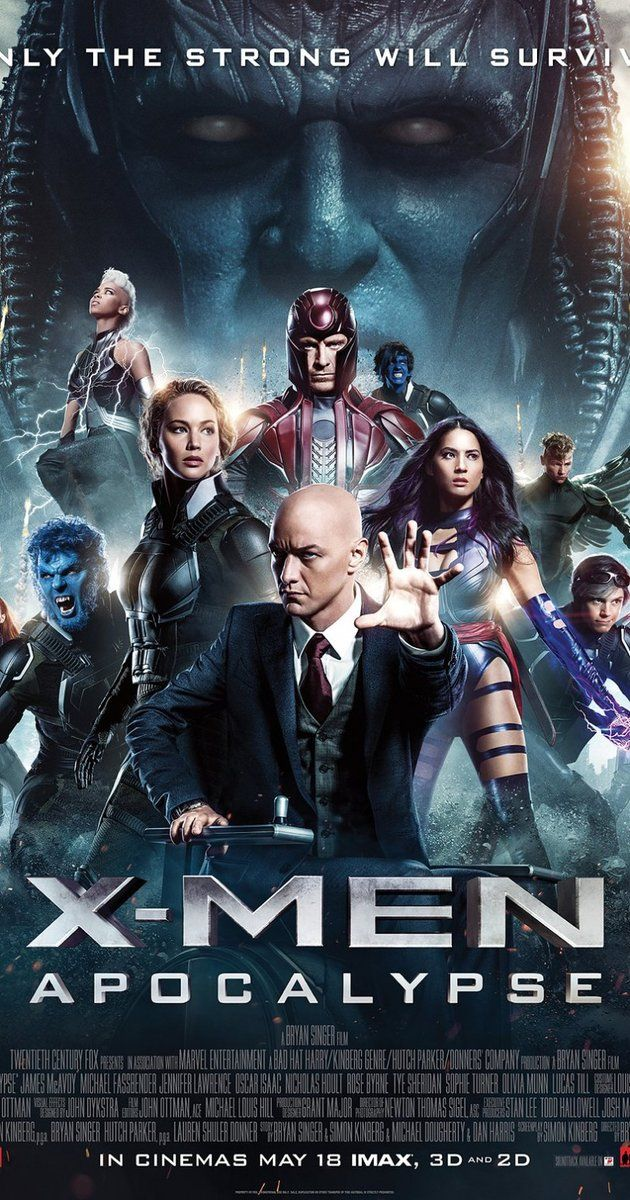 Directed by Bryan Singer.  With Sophie Turner, Jennifer Lawrence, Olivia Munn, Oscar Isaac. With the emergence of the world's first mutant, Apocalypse, the X-Men must unite to defeat his extinction level plan.