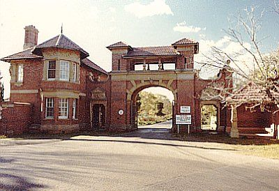 View of entrance gatehouse.The Hospital and its associated buildings and landscape form a vital part of the Parramatta River foreshore. The hospital has an outstanding sense of place, dominating the immediate part of the river. Image by: C Betteridge Image copyright owner: Department of Urban Affairs and Planning