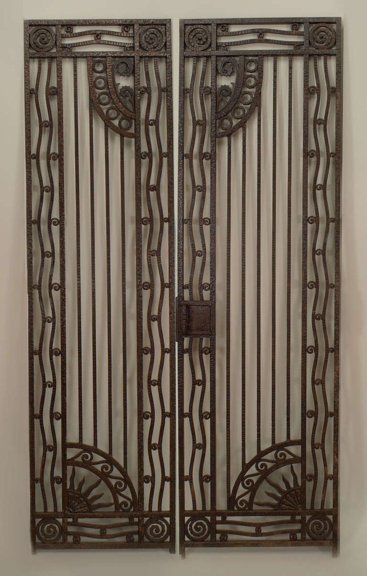 1202 best art deco01 images on pinterest art deco art art deco pair of french art deco wrought iron gates from a unique collection of antique sciox Images