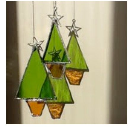 Stained glass Christmas Tree by ScottishHandCrafts on Etsy, £5.00
