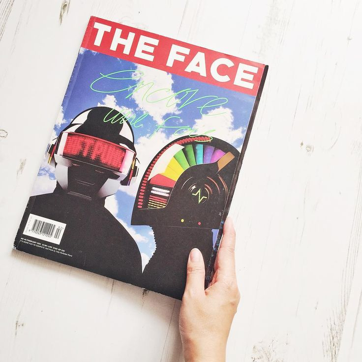 """Kit Lee 李潔儀 on Instagram: """"Selling this rare magazine on @depopmarket, THE FACE! Yes the long gone THE FACE magazine! Featured on front cover is Daft Punk, published in February 2001. Selling for £8.00 UK shipping only. Find me on Depop @ styleslicker. #depop #THEFACEmag #daftpunk"""""""