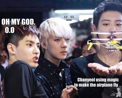 hahahahahaha Kris is just like 0.0 and then there's Sehun -_- LOL