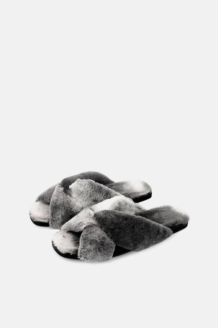 AMAZING SOFT X-SLIDE MULE IN NATURAL SHEARED ORYLAG FUR- NO TWO PAIR  EXACTLY THE SAME     MADE IN ITALY, ITALIAN SIZINGGREY OMBRE  ALSO AVAILABLE IN NAKA NERO, CAMOSCIO NERO, PONY GRAFFIATO CUOIO