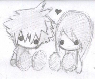 imagenes de anime de amor para dibujar chida