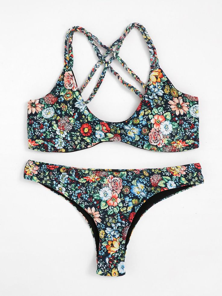 Shop Calico Print Cross Back Bikini Set online. SheIn offers Calico Print Cross Back Bikini Set & more to fit your fashionable needs.