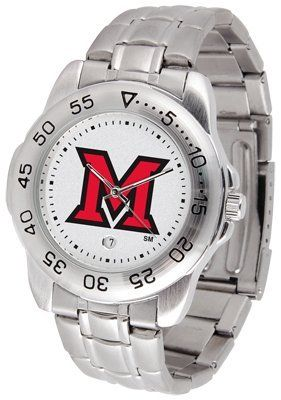 Miami University Of Ohio Redhawks Sport Steel Band - Men's - Men's College Watches by Sports Memorabilia. $50.76. Makes a Great Gift!. Miami University Of Ohio Redhawks Sport Steel Band - Men's