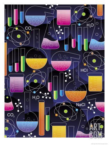 A Chemistry Texture Art Print at Art.com