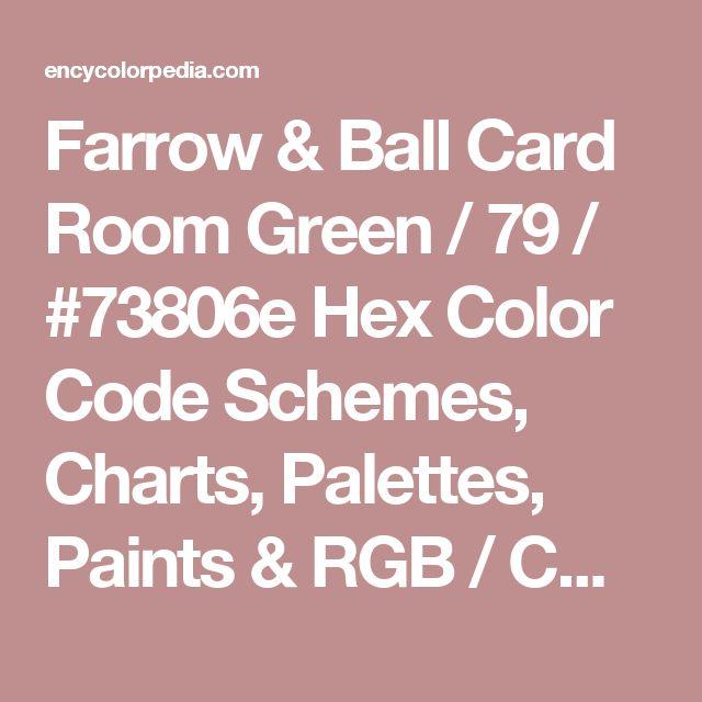 Farrow Ball Card Room Green Rgb