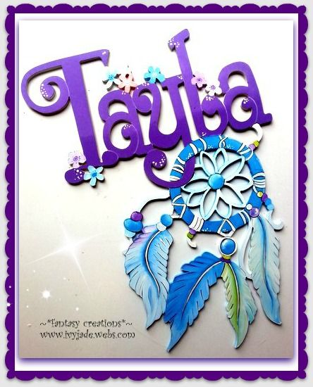 hand made wooden personalized door or wall signs .   dreamcatchers fantasy creations  ~  www.ivyjade.webs.com