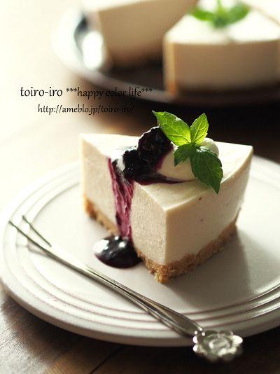アサイー&ベリーのレアチーズケーキ by トイロさん   レシピブログ ...
