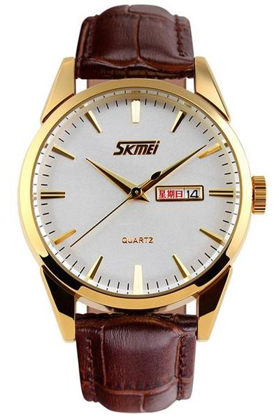 Skmei Business Luxury Watches Quartz Calendar Leather Strap Waterproof For Mens 9073 $17.99