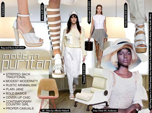 SS 2015 Women's Key Trend Theme, 90's Minimal Puritan