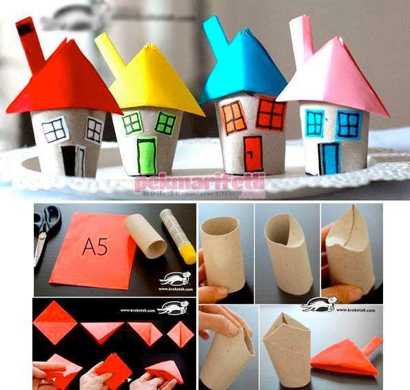 Tuvalet kağıdı rulosundan ev yapımı | El Yapımı | Pek Marifetli!