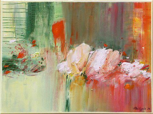 """Philippin, Inge, """"Flowery 2"""" (42) Mit einem Klick auf 'Als Kunstkarte versenden' versenden Sie kostenlos dieses Werk Ihren Freunden und Bekannten."""