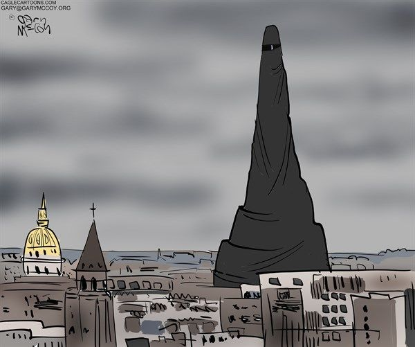 Afbeeldingsresultaat voor Paris the city of Islam cartoon