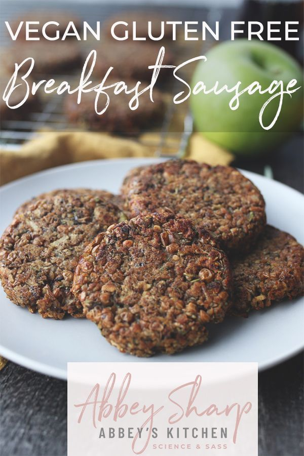 Vegan Breakfast Sausage With Maple And Apple In 2020 Food Processor Recipes Sausage Breakfast Vegetarian Sausages