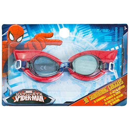 buy now   									£2.82 									  									This exciting set of swimming goggles are suitable for both boys and girls of all ages. These goggles are Spider-Man themed, with blue straps and an awesome  ...Read More