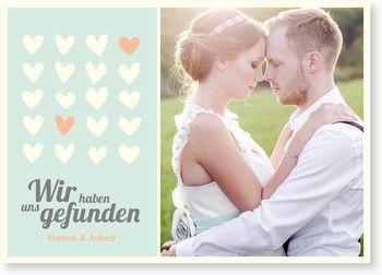 Wir haben uns gefunden Hochzeitseinladungen, Themen-Karten & Foto-Hochzeitseinla…
