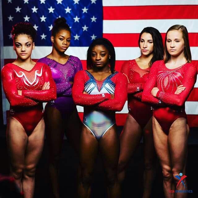 Lori, Gabby, Simone, Aly and Madison Team USA 2016