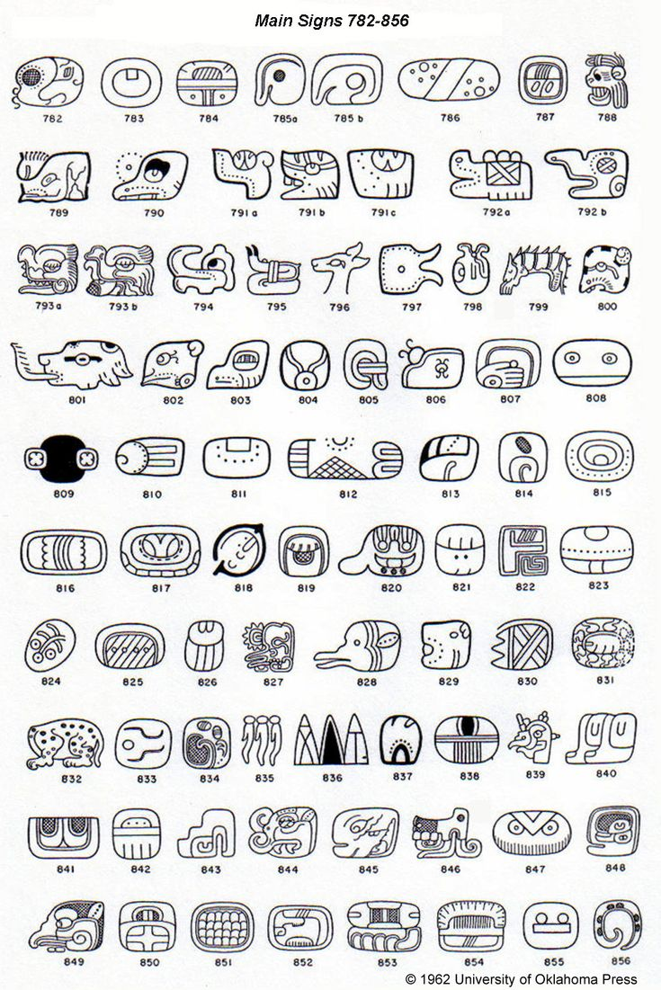 A Catalog of Maya Hieroglyphs by J. Eric S. Thompson