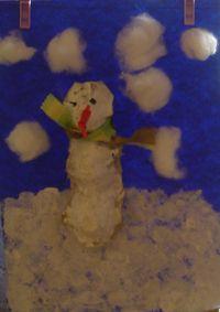 sneeuwpop van eierdoos  Kijk voor uitleg op: http://www.peuten.nl/juffrouwilona/  thema winter