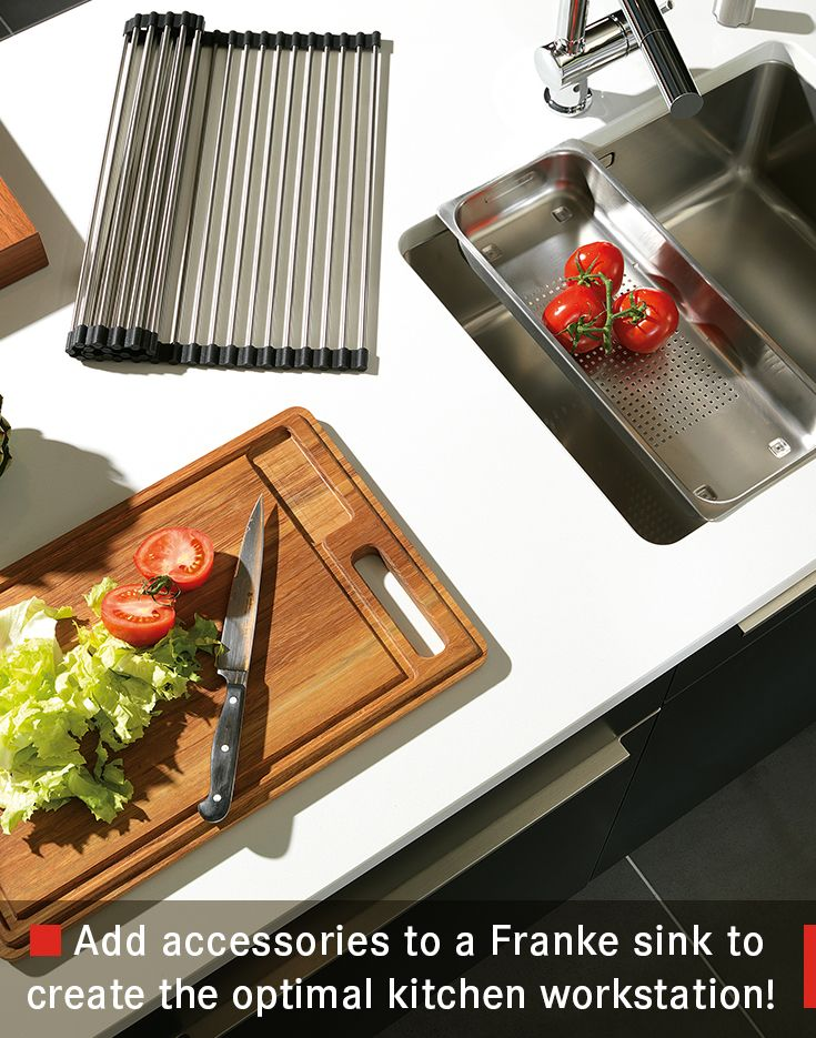 add accessories to a franke sink to create the optimal kitchen workstation - Franke Sink