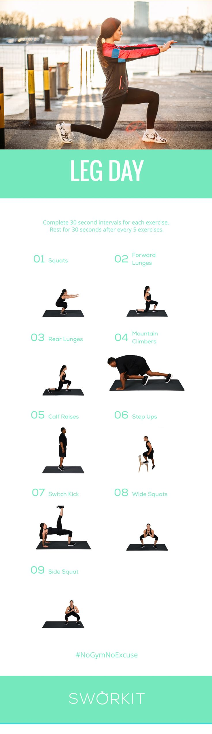 Easter is around the corner so we want you to be ready to hop hop around! Therefore we have this really great leg workout ;) Want to download our Leg Day workout? Download Sworkit and follow us on social media for the links!