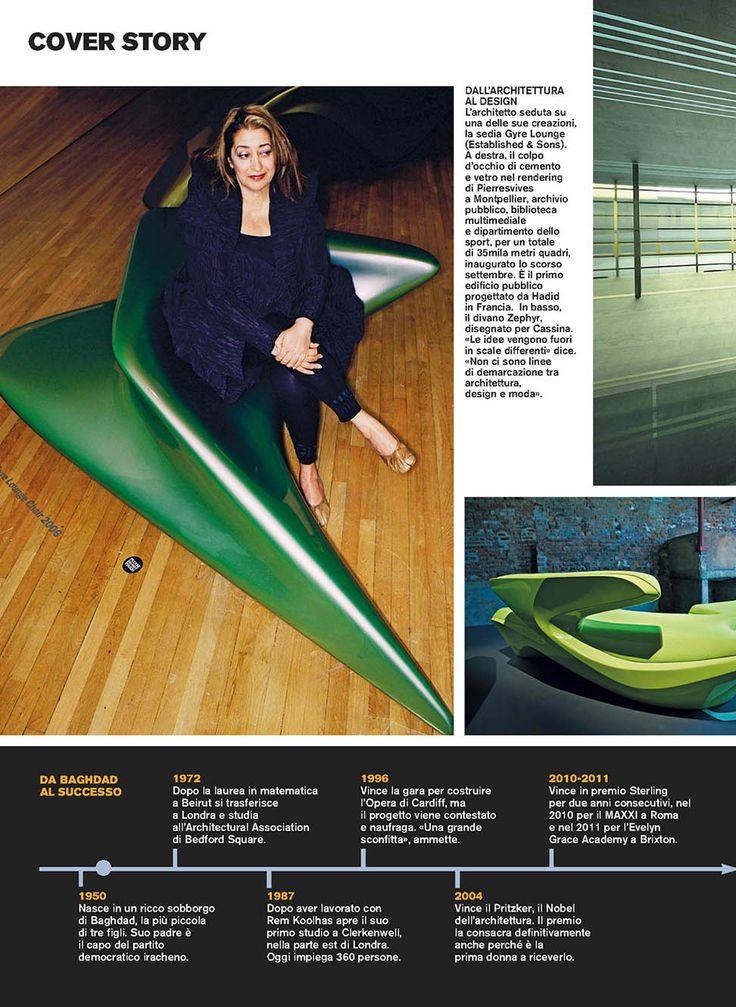 D REPUBBLICA - ZEPHYR SOFA, design Zaha Hadid