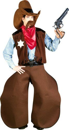 Adult Mens Funny Cowboy Halloween Costume