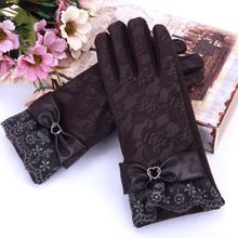 Women's Lace Gloves Touch Screen Fashion Warm Leather Winter Thicken Ladies Glove Elegant Winter PU Leather Gloves for Women //Price: $US $2.99 & FREE Shipping //     #hashtag4